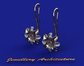 3D printable model Flower Earrings winter