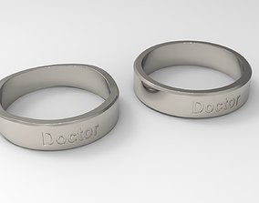 Doctor Couple Ring Platinum 3D printable model