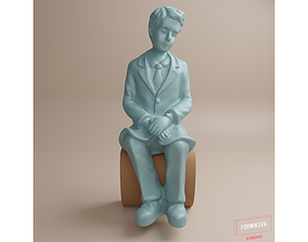 Figure-Man in fifties- comic style-04 3D print model