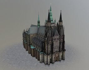 Prague Vitus Cathedral 3D asset