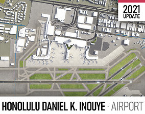 3D model Honolulu Airport