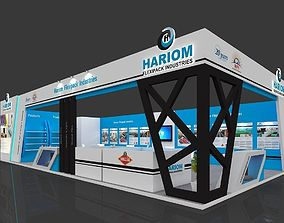 Exhibition stall 3d model 105 sq mtr 2sides open 1