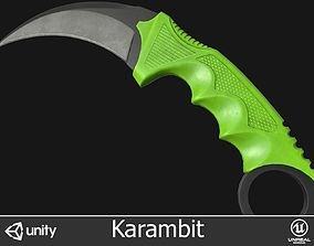 3D model game-ready Karambit Knife