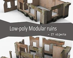 3D asset Modular Ruins