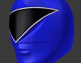 3D printable model power rangers zeo blue helmet stl file