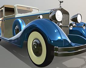 3D Rolls Royce cabrio retro