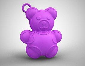 Bear Keychain 3D printable model