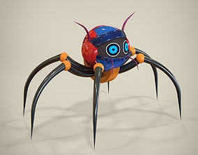 character Spider Robot 3D model
