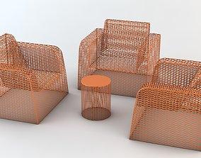 Mesh Patio Furniture 3D