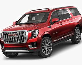 Yukon XL 2021 Denali SUV 3D model