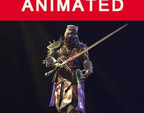 crusader knight 3D asset