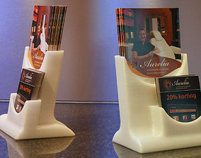 Brochure stand 3D printable model