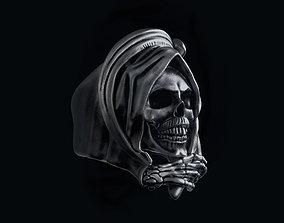 3D print model Grim Reaper Skull ring