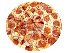 Large Pepperoni Pizza 3D model