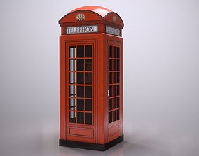 3D asset Red Phone Booth
