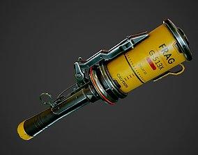 3D model realtime PBR Frag Grenade