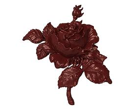 3D print model Bourbon rose bas relief for CNC