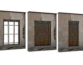 VR / AR ready 3Model Industrial Metal Windows 01