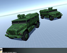 3D model Stylized Technics - MRAP 4