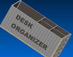 3D print model desktop organizer 20ft container