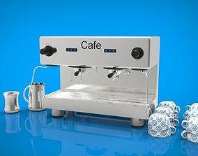 visualisation 3D model Coffee Machine