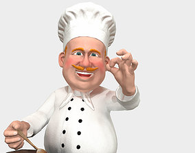 3D model animated Chef caricature