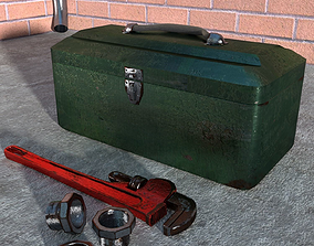 Old Rusty Wrench 3D Model low-poly