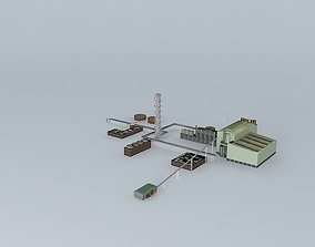 Olympic Dam Mine Extraction Plant 3D model