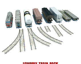Lowpoly Train Pack 3D