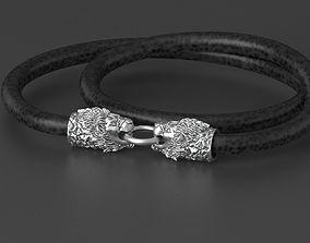 lion bracelet 3D printable model sterling