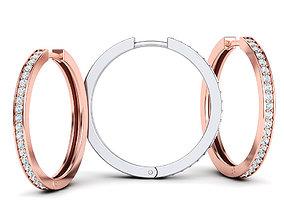 Hoop Earrings 25mm 3dmodel printable