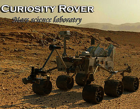 3D model CURIOSITY ROVER-MARS SCIENCE LABORATORY