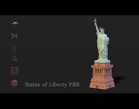 Statue of Liberty PBR 3D model