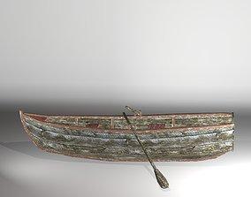 Lowpoly rowboat 3D model