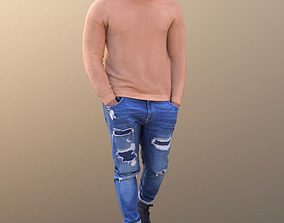Gabriel 10637 - Walking Casual Man 3D asset