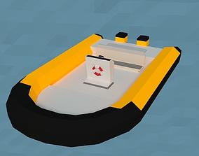 LowPoly MotorBoat 3D model