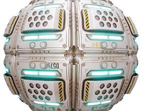 PBR Seamless Sci-Fi Texture 38 3D asset