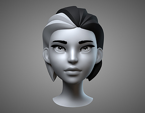 3D Cartoon Female Head