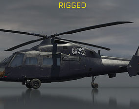 3D Ka-60 Kasatka helicopter RIGGED