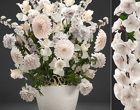 3D model Bouquet of wthite flowers