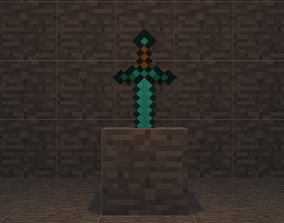 3D model Minecraft Swords