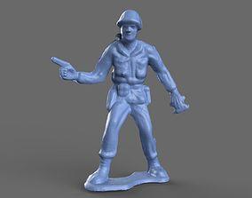 Green Army Man Handgun 3D