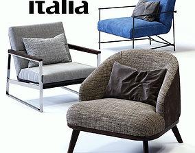 3D model Ditre Italia Armchairs Set