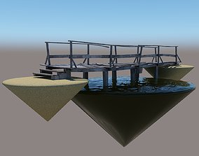 VR / AR ready 3D wooden bridge