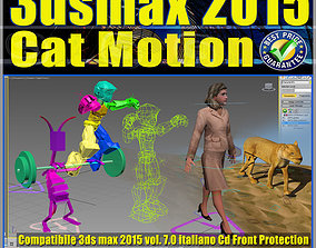Video Corso 3ds max 2015 Cat Motion volume 7 animated 2