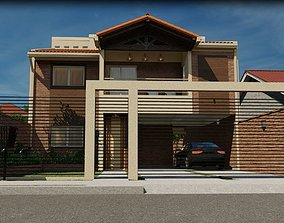 Roustic House 3D and 2D Model