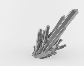 Crystal Quartz 3D model Scene is ready to render 3D model