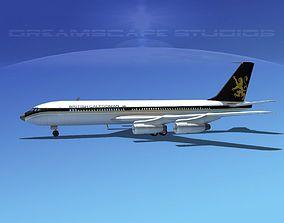 3D model Boeing 707 British Caledonian