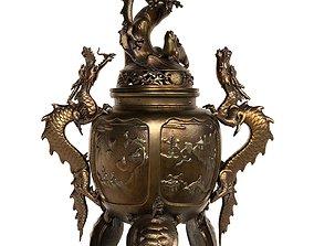 Dragon Incense Burner 3D asset