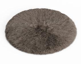 Round Rug Fur 3D